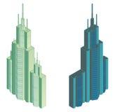 Isometrische projectie van een hoog gebouw Royalty-vrije Stock Fotografie