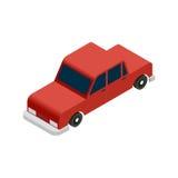 Isometrische rode auto Stock Foto's