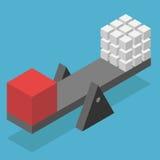 Isometrische schaal met kubussen Stock Illustratie