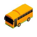 Isometrische schoolbus stock fotografie