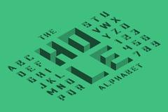 Isometrische Schriftart 3d stock abbildung