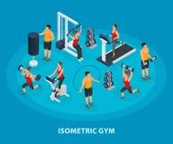 Isometrische Sport en Gezond Levensstijlconcept vector illustratie