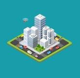 Isometrische städtische Stadt