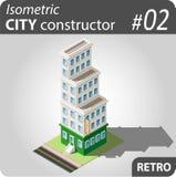 Isometrische stadsaannemer - 02 Royalty-vrije Stock Foto