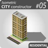 Isometrische stadsaannemer - 05 Stock Fotografie