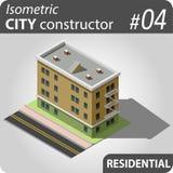 Isometrische stadsaannemer - 04 Royalty-vrije Stock Fotografie