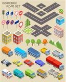 Isometrische Stadsreeks Stock Foto