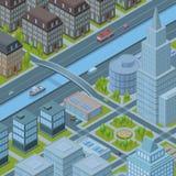 Isometrische Stadt Stockbild