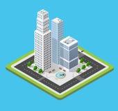 Isometrische Stadt 3D Stockfoto