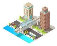 Isometrische Stadtverkehr-Schablone Lizenzfreie Stockfotos