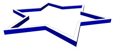Isometrische ster van geïsoleerd David vector illustratie