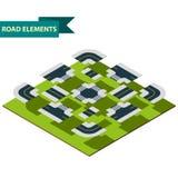 Isometrische Straßenelemente Stockfotografie