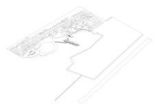 Isometrische Tekening van het Project van het Landschap Royalty-vrije Stock Fotografie