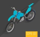 Isometrische Vektorillustration des Motocrosses Lizenzfreie Stockbilder