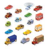 Isometrische voertuigen Royalty-vrije Stock Afbeelding