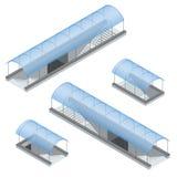 Isometrische voetmetro onder de weg Ondergrondse passage Stock Foto's
