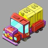 Isometrische vrachtwagen Royalty-vrije Stock Foto