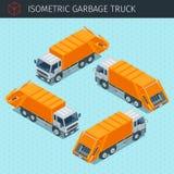 Isometrische vuilnisauto royalty-vrije illustratie