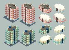 Isometrische Wohnung Stockfoto