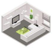 Isometrische Wohnzimmerikone des Vektors Stockfotos
