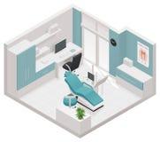 Isometrische zahnmedizinische Klinikikone des Vektors Stockbild