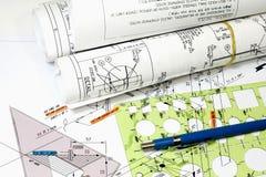 Isometrische Zeichnungen Lizenzfreies Stockbild