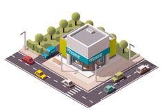 Isometrischer Drugstore des Vektors Stockfoto