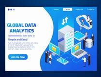 Isometrischer Entwurf Big Datas lizenzfreie abbildung
