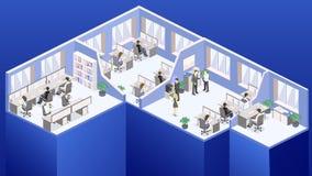 Isometrischer flacher Bürobodeninnenministerium-Konzeptvektor der Zusammenfassung 3d lizenzfreie stockbilder