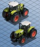 Isometrischer Fotographien-Traktorausschnittspfad Lizenzfreies Stockfoto