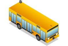 Isometrischer gelber Bus Stockbilder