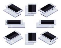 Isometrischer generischer weißer Smartphone Stockfoto