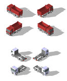 Isometrischer Ikonenkippwagen des Vektors Stockfotografie