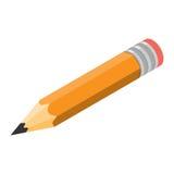 Isometrischer Ikonenvektor des Bleistifts Lizenzfreies Stockfoto