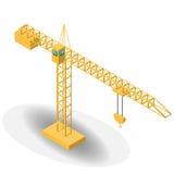 Isometrischer industrieller Kran für Bau Stockfoto