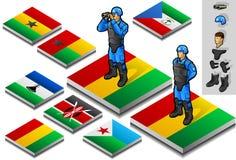 Isometrischer internationaler Militärbeobachter Lizenzfreies Stockfoto