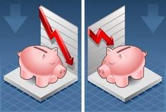Isometrischer Kasten der piggy Querneigung Lizenzfreie Stockfotografie