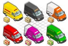 Isometrischer Lieferwagen Lizenzfreies Stockbild
