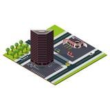Isometrischer Stadtplan Stockfotos