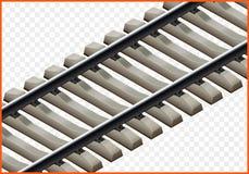 Isometrischer Vektor 3d der Eisenbahnlinie Stockbilder