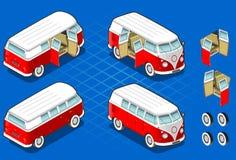 Isometrischer Volkswagen-Bus Stockfotos