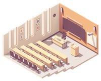 Isometrischer Vorlesungssal des Vektors Hochschul lizenzfreie stockfotos