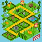 Isometrischer Zoo-Park Lizenzfreies Stockbild