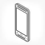 Isometrisches Entwurfstelefon Stockbild