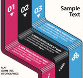 Isometrisches flaches Design infographics Stockbilder