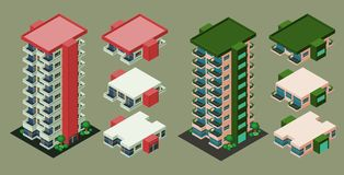 Isometrisches Gebäude Stockbild