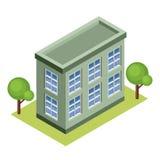 Isometrisches Gebäude Lizenzfreies Stockfoto