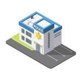isometrisches Gebäude der Polizei 3D vektor abbildung