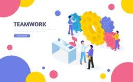 Isometrisches Gesch?ftskonzept Teamwork-Prozess vektor abbildung