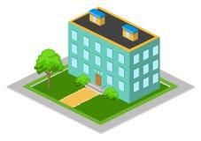 Isometrisches großes Haus Lizenzfreie Stockfotografie